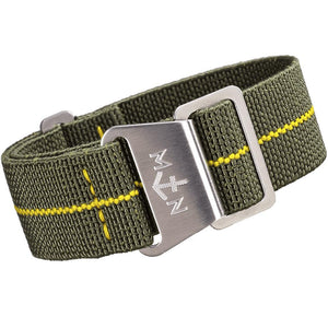 Erika's Originals MN Watch Strap Green Yellow-Holben's Fine Watch Bands