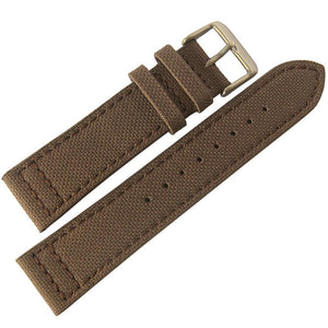 Eulit Canvas Watch Strap Brown-Holben's Fine Watch Bands
