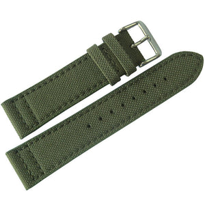 Eulit Canvas Green Watch Strap-Holben's Fine Watch Bands