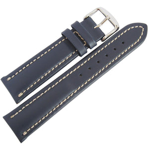 Fluco Chrono Nabucco Leather Watch Strap Blue-Holben's Fine Watch Bands