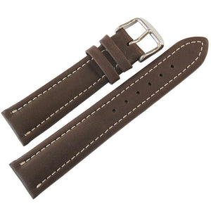 Fluco Chrono Nabucco Leather Watch Strap Brown-Holben's Fine Watch Bands