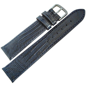 Fluco Emporio Teju Lizard-Grain Leather Blue-Holben's Fine Watch Bands