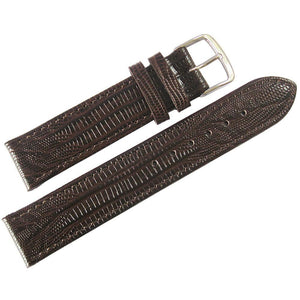 Fluco Emporio Teju Lizard-Grain Leather Watch Strap Brown-Holben's Fine Watch Bands