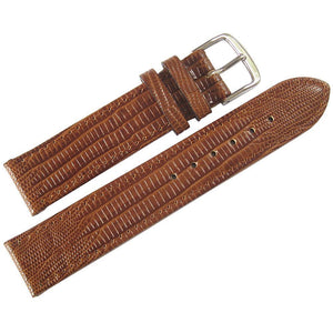 Fluco Emporio Teju Lizard-Grain Leather Tan-Holben's Fine Watch Bands