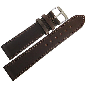 Fluco Horween Shell Cordovan Leather Watch Strap Flat Brown-Holben's Fine Watch Bands