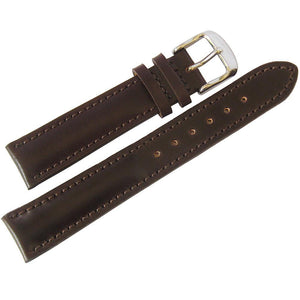 Fluco Horween Shell Cordovan Leather Watch Strap Brown-Holben's Fine Watch Bands