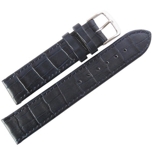 Fluco Kroco Crocodile-Grain Leather Watch Strap Blue-Holben's Fine Watch Bands