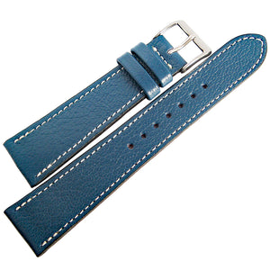 Fluco Montana Goatskin Leather Watch Strap Blue-Holben's Fine Watch Bands