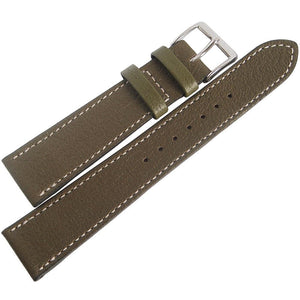 Fluco Montana Goatskin Leather Watch Strap Green-Holben's Fine Watch Bands