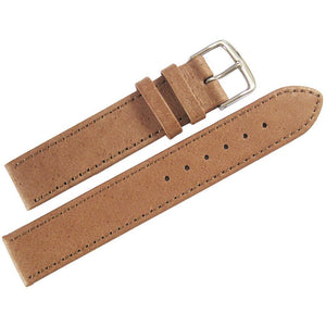 Fluco Pigskin Leather Watch Strap Tan-Holben's Fine Watch Bands