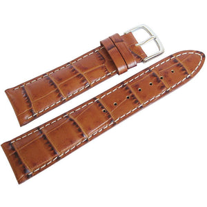 Hadley-Roma MS 834 Alligator-Grain Leather Watch Strap Tan-Holben's Fine Watch Bands