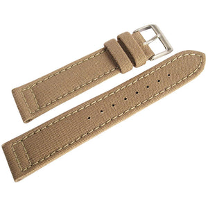 Hadley-Roma MS 850 Cordura Watch Strap Sand-Holben's Fine Watch Bands