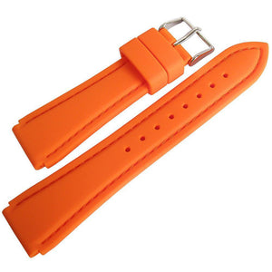 Hadley-Roma MS3346 Silicone Rubber Watch Strap Orange-Holben's Fine Watch Bands