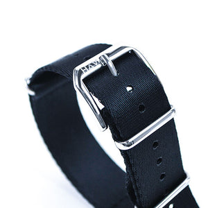 Haveston Black No. 1 Watch Strap - Holben's Fine Watch Bands