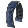 Hirsch George Alligator Blue Leather Watch Strap-Holben's Fine Watch Bands