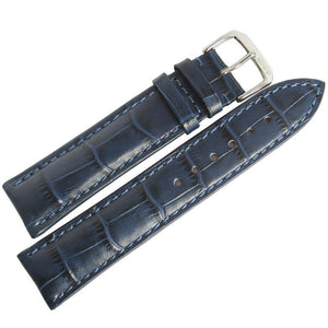 RIOS1931 Louisiana Alligator-Grain Leather Watch Strap Blue-Holben's Fine Watch Bands