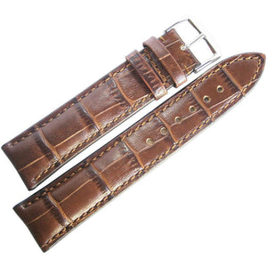 RIOS1931 Louisiana Alligator-Grain Leather Watch Strap Mahogany Brown-Holben's Fine Watch Bands