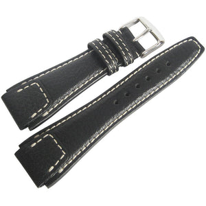 RIOS1931 Nature Buffalo Leather Black Watch Strap-Holben's Fine Watch Bands
