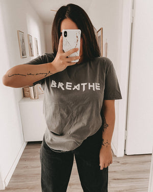 Breathe T-Shirt (vintage anthracite)