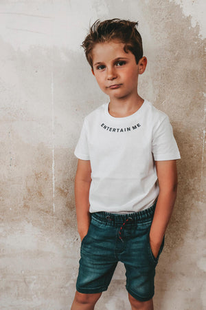 Entertain Me Kids T-Shirt (white)