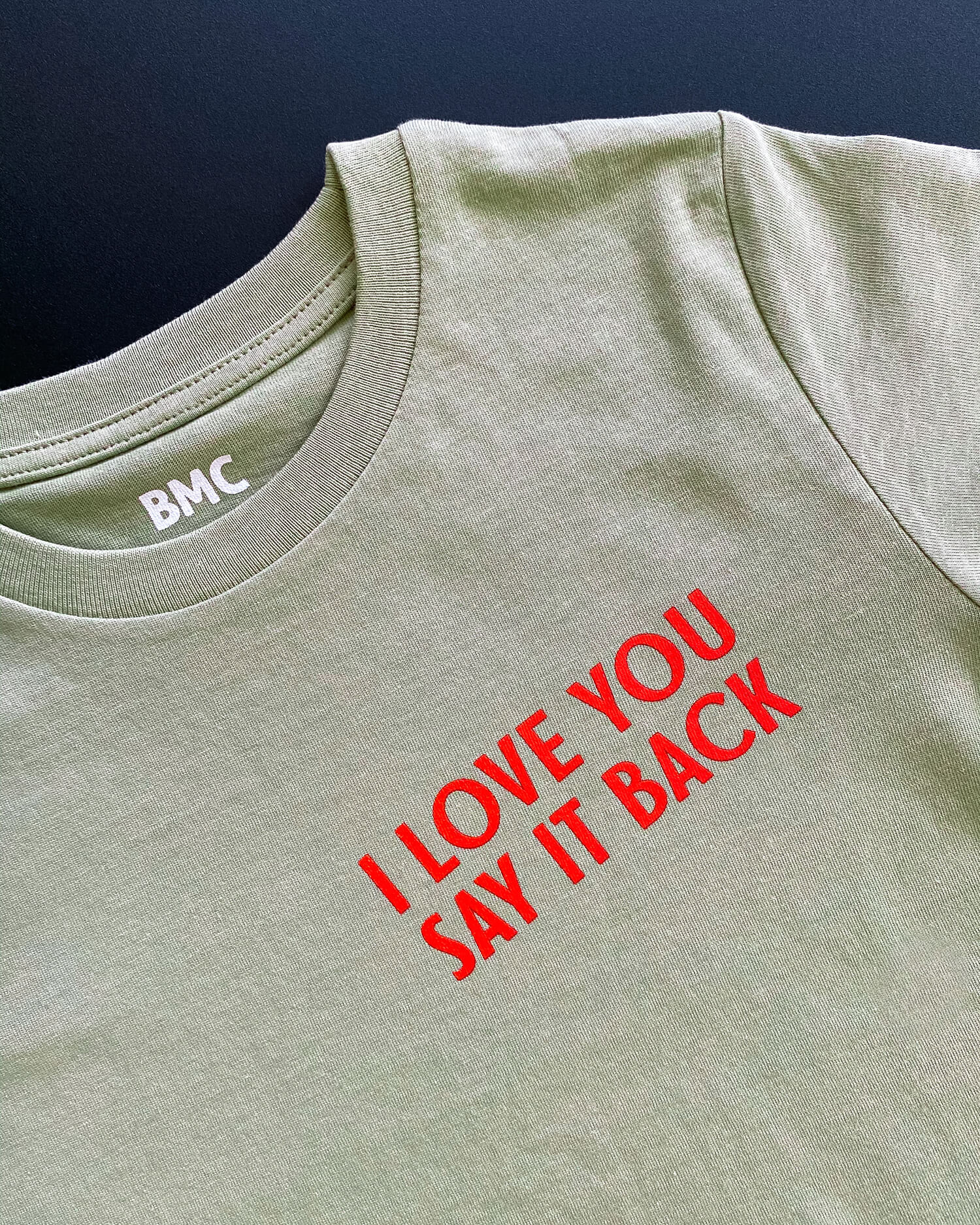 I Love You Say It Back Kids T-Shirt (sage)