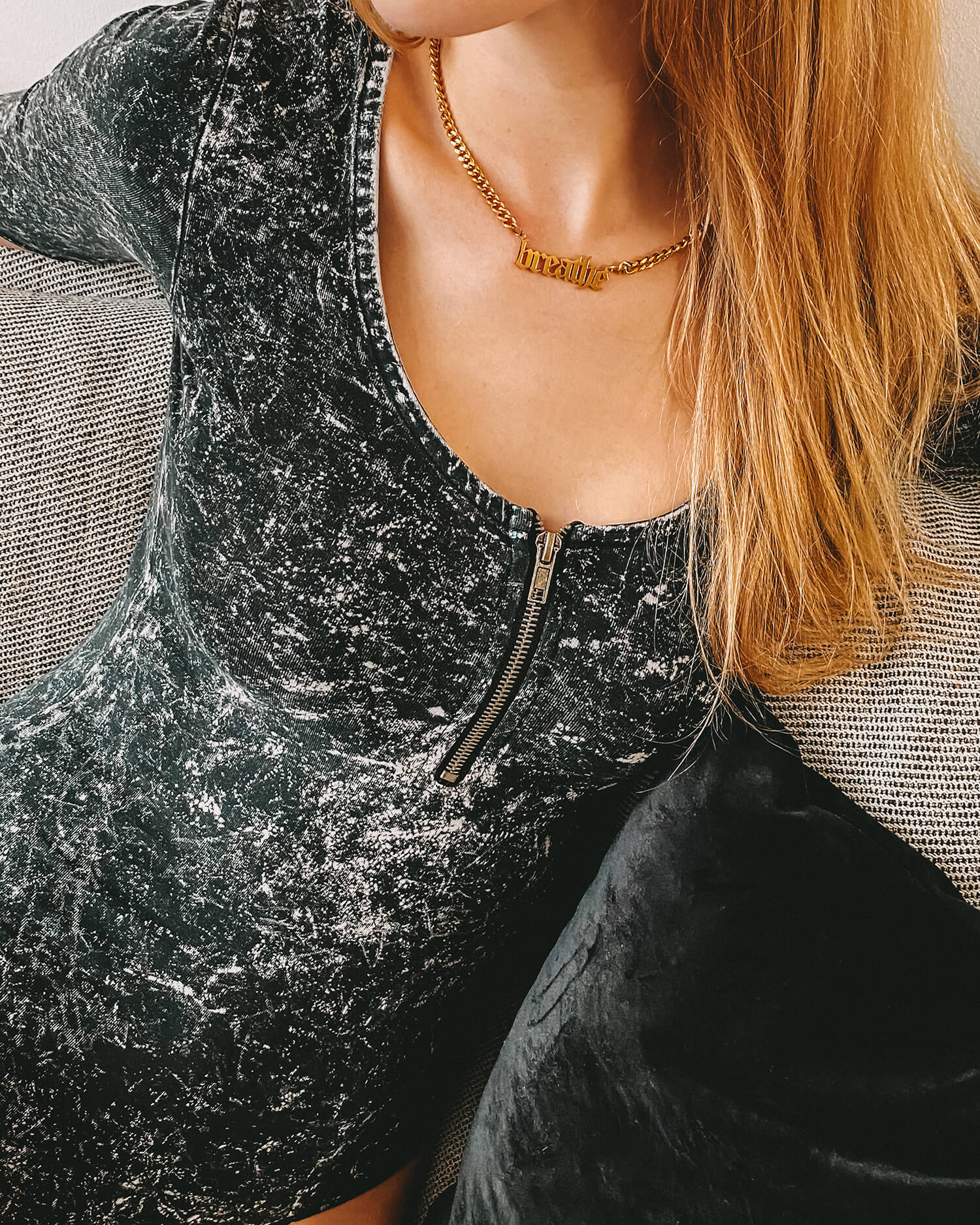 Breathe Necklace (gold)
