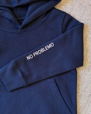 No Problemo Kids Hoodie (french navy)