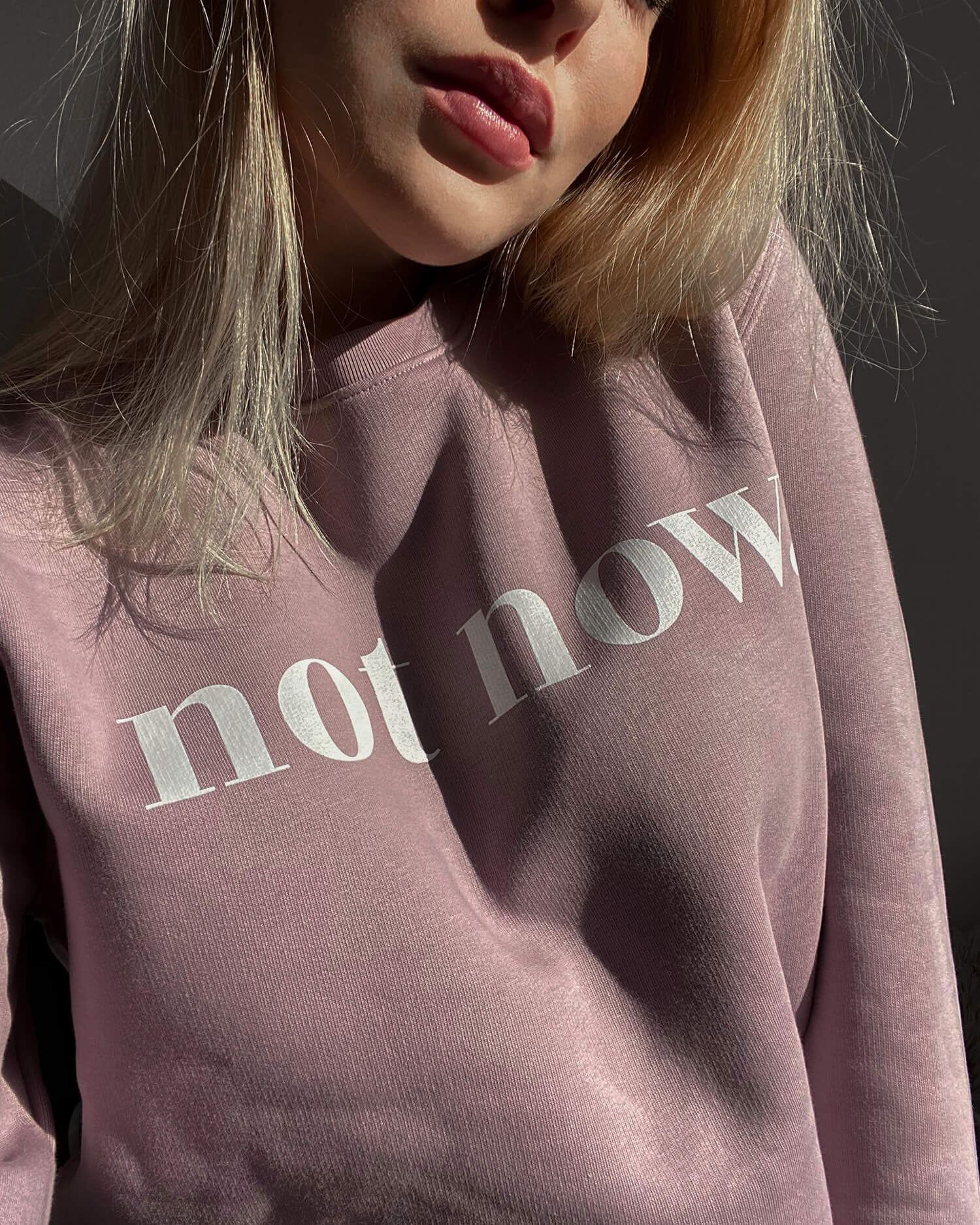 Not Now Sweater (pastel lilac)