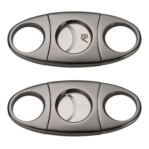 Stainless Steel Double Cut Blade Cigar Cutter