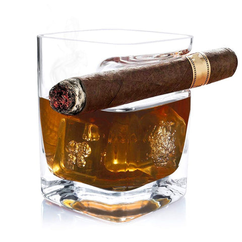 Cigar Glass with Cigar Holder