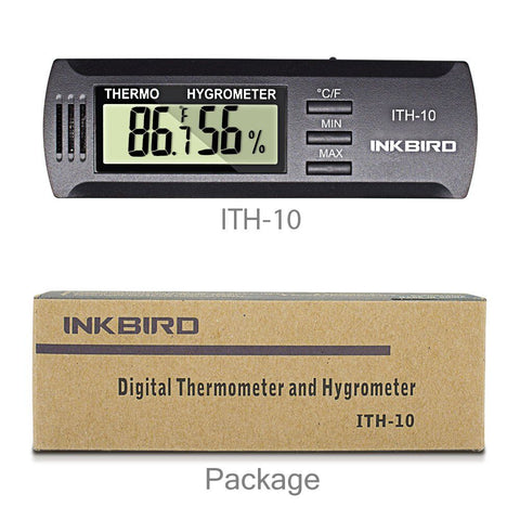 Digital Thermometer and Hygrometer For Cigar Box