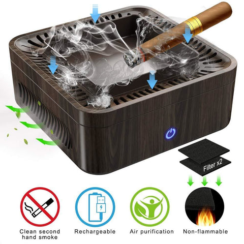 Air Purifying Ash Tray - Brown