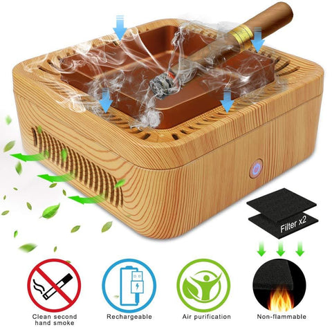 Image of Air Purifying Ash Tray - Wood