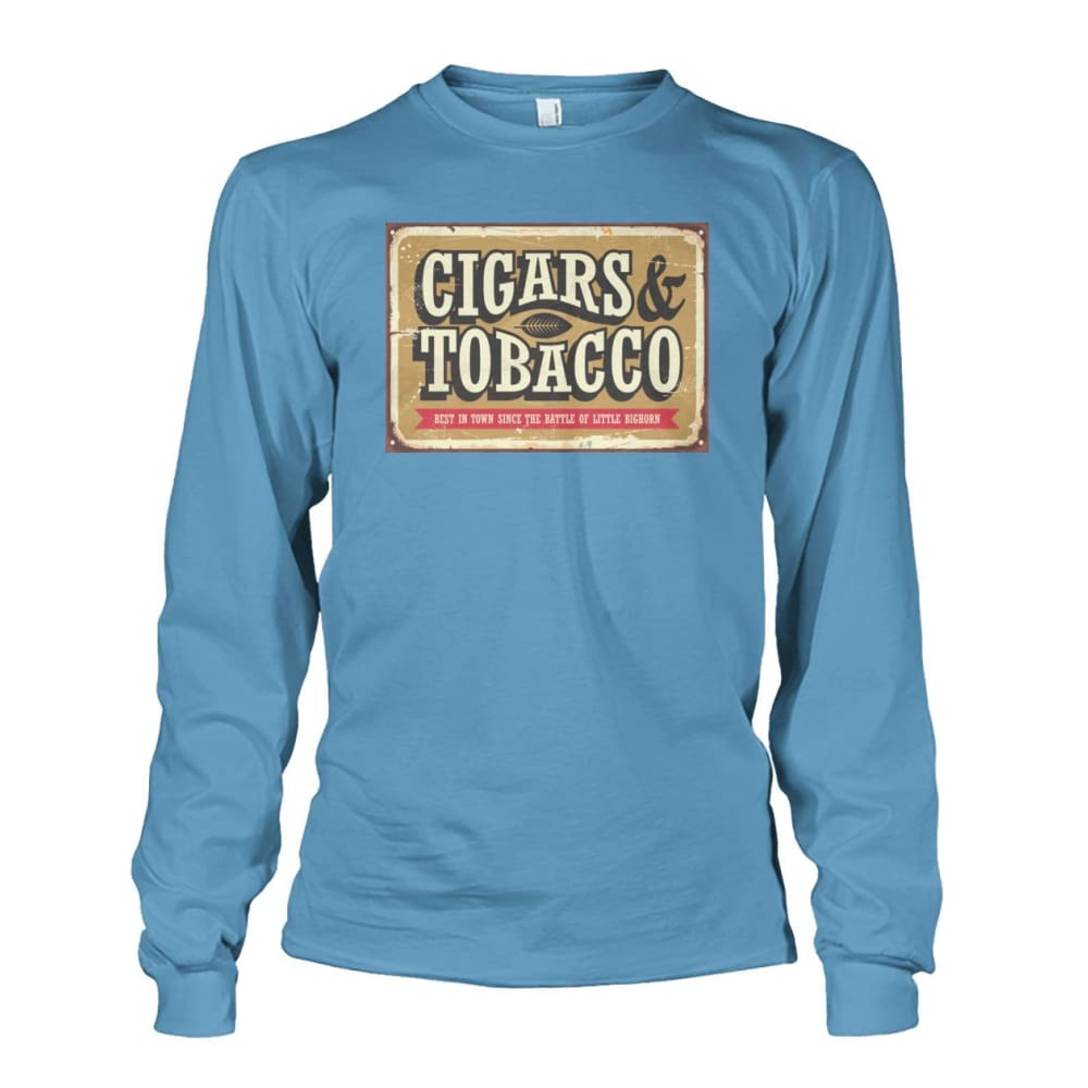 Cigars and Tobacco - Carolina Blue / S - Long Sleeves