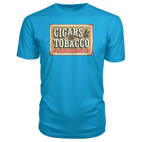 Image of Cigars and Tobacco - Carribean Blue / S - Short Sleeves