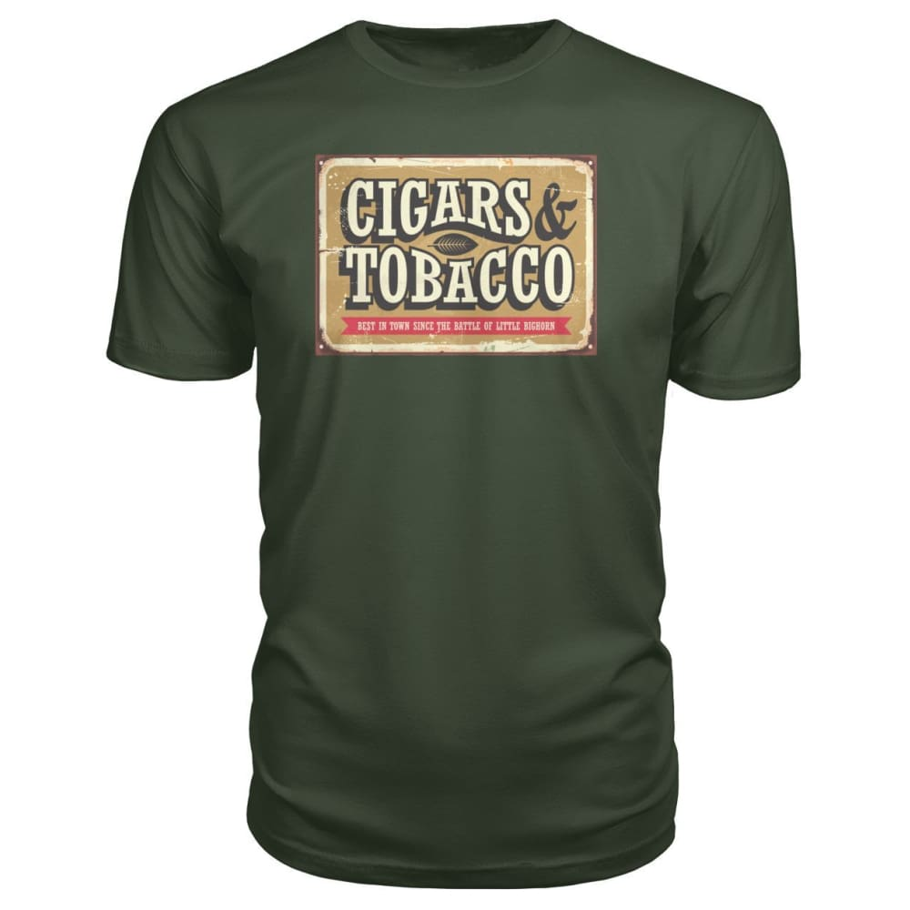 Cigars and Tobacco - City Green / S - Short Sleeves