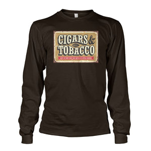 Cigars and Tobacco - Dark Chocolate / S - Long Sleeves