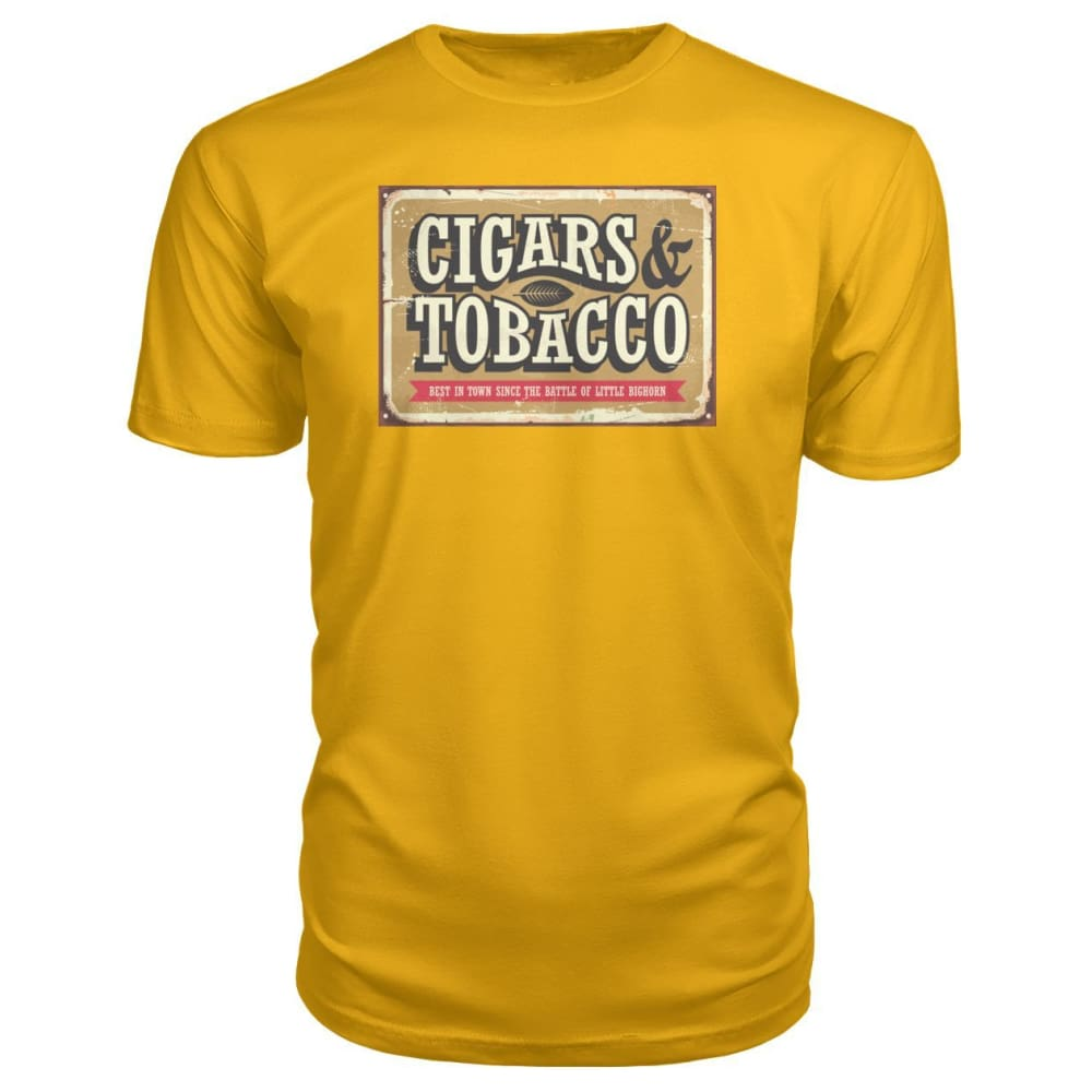 Cigars and Tobacco - Gold / S - Short Sleeves