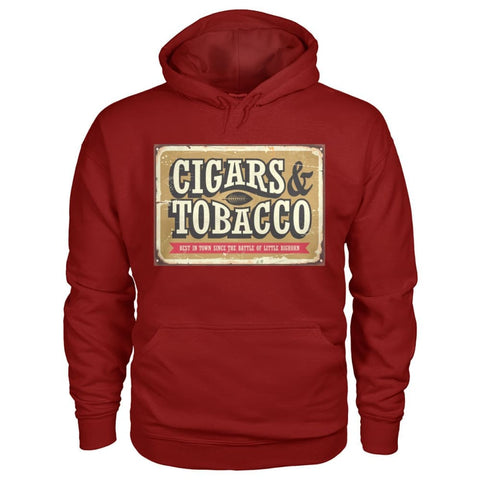 Image of Cigars and Tobacco Hoodie - Cardinal Red / S - Hoodies