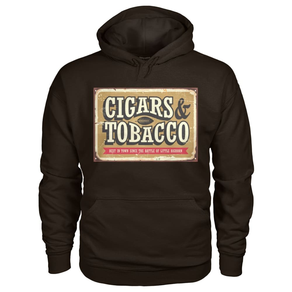 Cigars and Tobacco Hoodie - Dark Chocolate / S - Hoodies