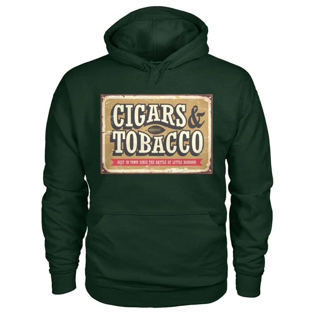Cigars and Tobacco Hoodie - Forest Green / S - Hoodies