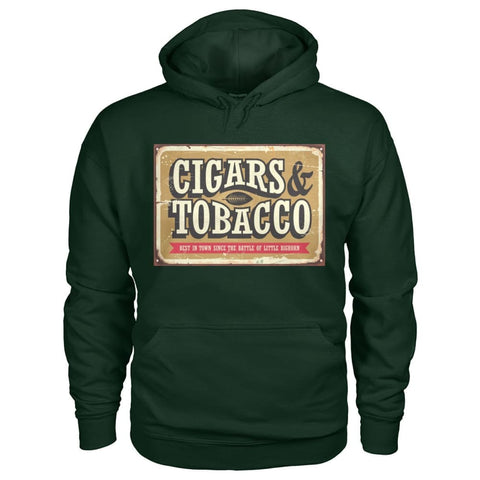 Image of Cigars and Tobacco Hoodie - Forest Green / S - Hoodies