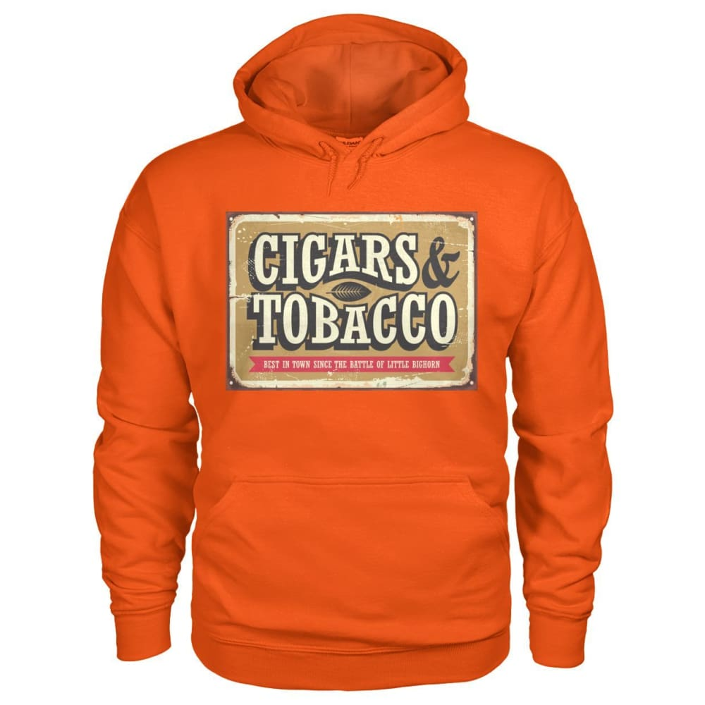 Cigars and Tobacco Hoodie - Orange / S - Hoodies