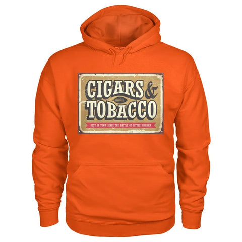 Image of Cigars and Tobacco Hoodie - Orange / S - Hoodies