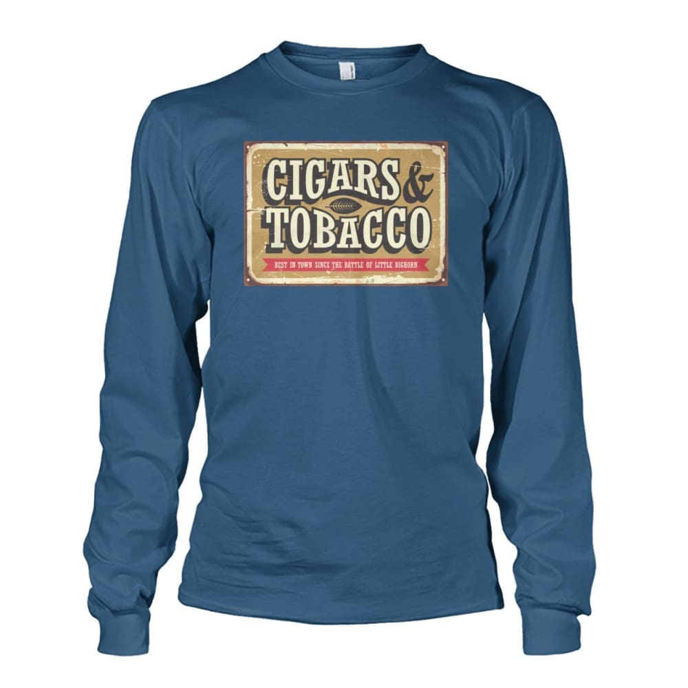 Cigars and Tobacco - Indigo Blue / S - Long Sleeves