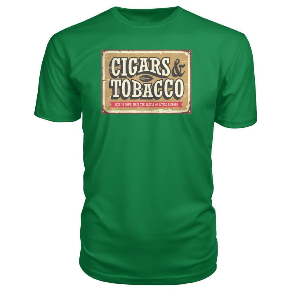 Cigars and Tobacco - Kelly Green / S - Short Sleeves