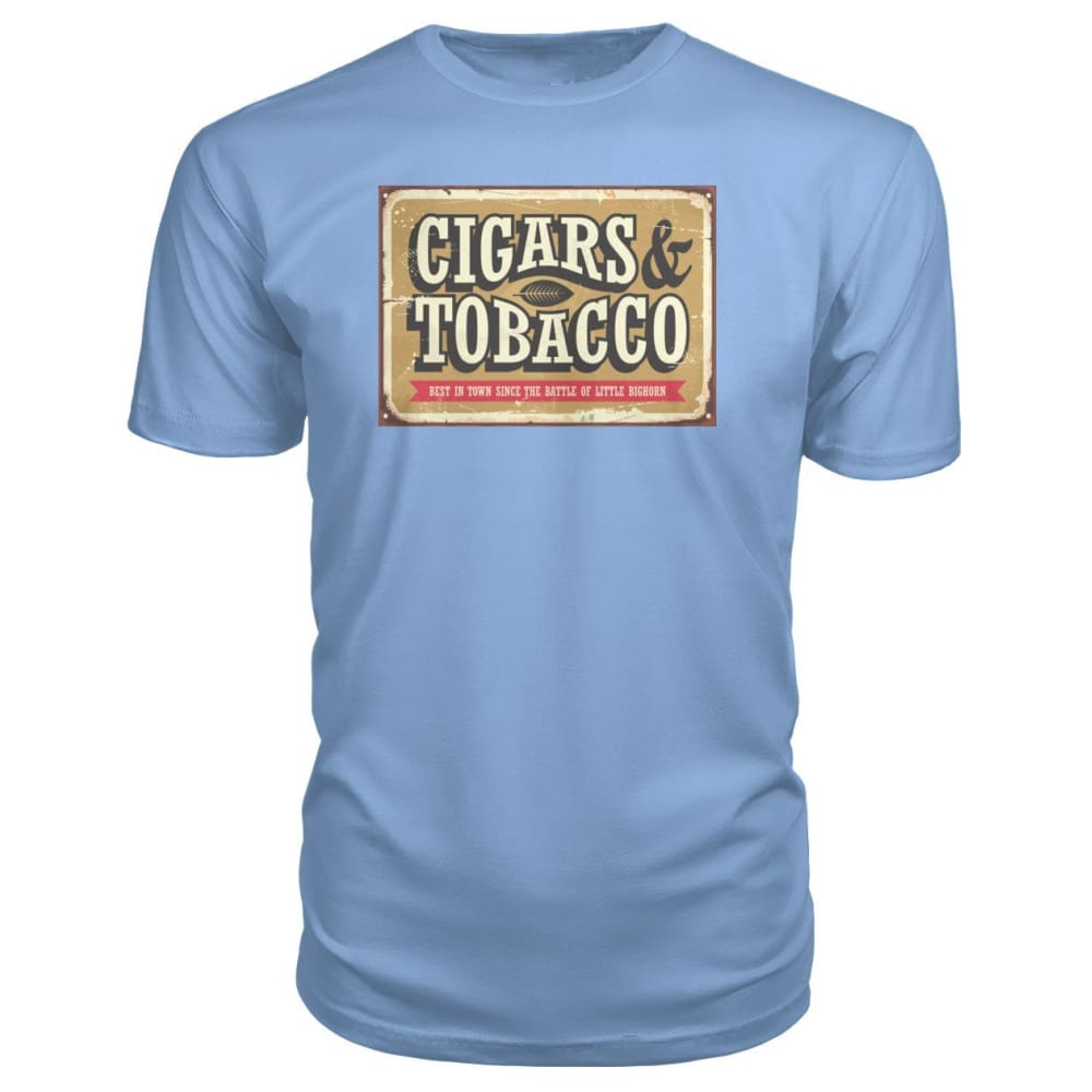 Cigars and Tobacco - Light Blue / S - Short Sleeves