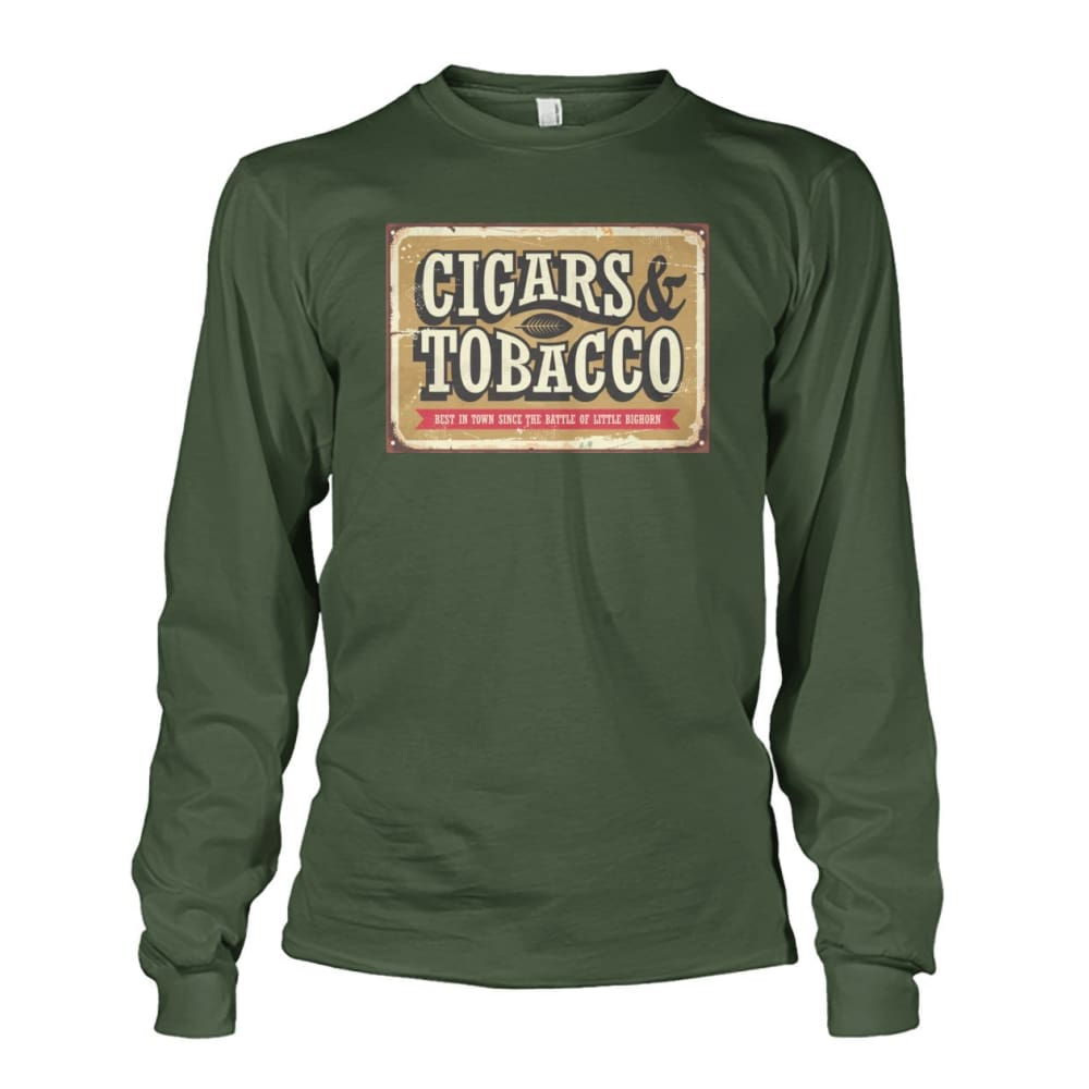Cigars and Tobacco - Military Green / S - Long Sleeves