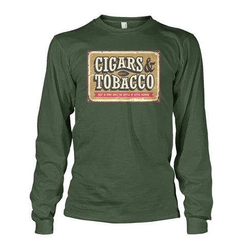 Image of Cigars and Tobacco - Military Green / S - Long Sleeves