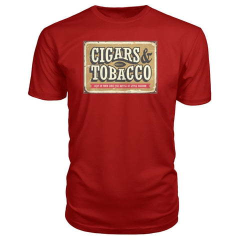 Image of Cigars and Tobacco - Red / S - Short Sleeves
